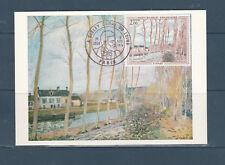 carte  1er jour  tableau Sisley  canal du Loing  75 Paris  1974