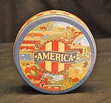 Vintage Style Advertising Ad Folk Art America Farm Litho Tin Can w Lid Container