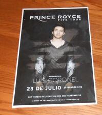 Prince Royce Five Tour Poster Promo Tour Original 11x17 Luis Coronel