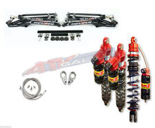 Houser +2.25 MX A-Arms + Elka Legacy 3 Front Rear Shocks Suspension Raptor 700