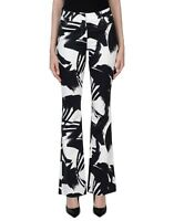 Pantaloni Donna VIOLET ATOS LOMBARDINI Italy H976 Bianco e Nero Tg 42 46