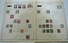Germany Wurttemberg 1863-1923 on old pages Used & MH includes official stamps