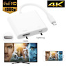 Lightning to HDMI Adapter Cable Digital AV TV For iPhone 6/7/8/X/XS/XR 1080P/4K