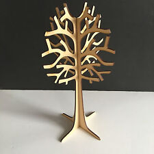 MDF Wooden Freestanding 3D Tree Shape Jewellery FAMILY WISH TREE 30cm Tall