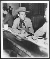 Bing Crosby 1940 On Set Stamped Promo Photo Rhythm on the Range Cowboy