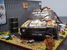 """1/18 FORD ESCORT RS2000 MK1 BARN FIND DIORAMA CODE 3  """"ANDREW GREEN"""" MKI MEXICO"""