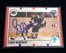 LARRY ROBINSON 1990-91 SCORE Autographed Signed AUTO HOCKEY Card 260 HOF
