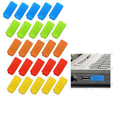5 set of 6  Color RUBBER SILICONE ANTI-DUST USB PLUG COVER STOPPER for PC Laptop