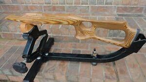 10/22 Ruger LEFTY Brown Barracuda stock w/laser stippling 920 or STD barrel 1203
