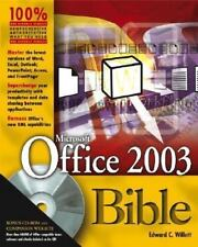 Microsoft Office 2003 Bible by Rodgers, Bill  CD still sealed in back unused