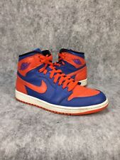 e21ccc411afb31 Air Jordan 1 Retro High OG Knicks Mens Basketball Shoes Size 8 Blue Orange