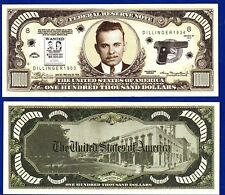 1-John Dillinger Million Dollar Bill  Wanted Gangster- Bank Robber-Note B3