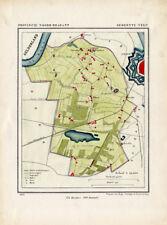 ANTIQUE MAP-NETHERLANDS-VELP-NOORD BRABANT-KUYPER-1865