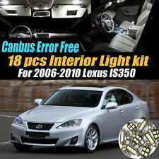 18Pc 2006-2010 Lexus IS350 Canbus Error Free White Interior LED Light Bulb Pack