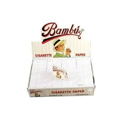 BAMBU Cigarette Rolling Papers 100 Packs Genuine!