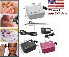 SP16 AirBrush Air Compressor Kit for Makeup Craft Hobby Tattoo Nail Manicure USA