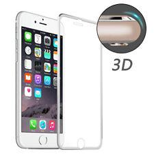 iPhone 7 3d Full Cover Alu Rahmen Display Schutz echt Glas Silber