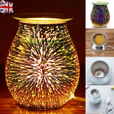NEW Electric Wax Melt Burner Aroma 3D Lamp Mirror Finish Pattern Touch Control