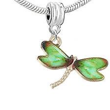 Dragonfly Charm Bead for European Snake Chain Charm Bracelet