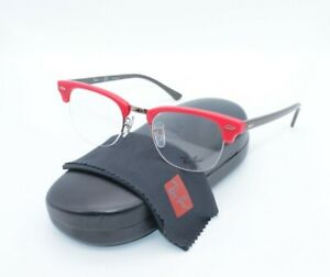 Ray-Ban Clubmaster RB 4354V 5904 48.22 140 Red Dark Brown Semi Rimless Frames