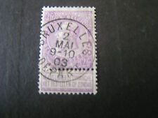Belgium, Scott # 75, 2fr. Value Lilac 1893-1900 King Leopold Ii Issue Used
