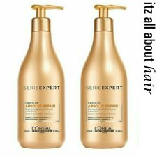 Loreal Absolut Repair Lipidium Shampoo 2 x 500ml Duo Pack