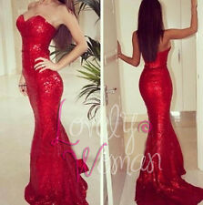Jessica Rabbit Mermaid Red Sequins Pageant Evening Dress Party Prom Ball Gown