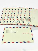 Vintage Airmail Mailing Letter Envelopes Scrapbook Supplies 10pk