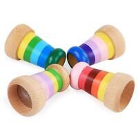 Toys Effect Kaleidoscope Kids Novelty Multi Prism Rainbow Wooden Toy Bee Eye JH