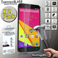 2 Pack Tempered Glass Screen Protector Cover For BLU Studio 6.0 LTE