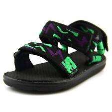 Scarpe sandali neri sintetico per bambini dai 2 ai 16 anni