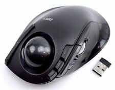 Elecom DEFT Series Trackball Mouse M-DT2DRBK Wireless Black 8 Button From Japan