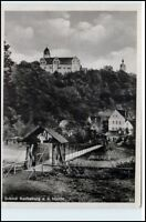 ROCHSBURG b. Lunzenau Sachsen um 1940 Schloss Mulde Kleine Brücke alte Postkarte