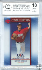 CLAYTON KERSHAW Dodgers 2005 Upper Deck USA RARE Acetate rookie BGS BCCG 10 MINT