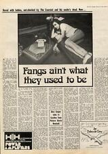 Alice Cooper Fangs Ain't What They Used To Be MM4 Interview 1974