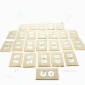 25 Eaton Ivory RESIDENTIAL 1G Outlet Cover Duplex Receptacle Wallplates 2132V