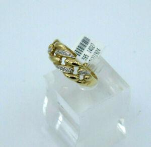 RING   in 585/- 14 crt.  Gelbgold mit   Diamanten Gr. 63