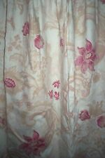 """Laura Ashley Baroque red linen union curtains 87"""" or 90""""d x 88""""w + tiebacks"""
