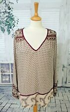 EAST Ivory & red Indian inspired top size 16