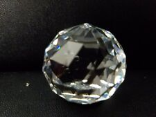 "Vtg Swarovski Crystal Ball Paperweight Signed Sc 1 1/4"" H 3.3Oz"