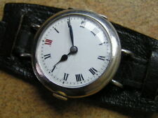 One Of First OMEGA Wristwatch, Left Hand Winding, Sterling Silver Case, ca1902