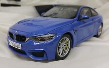 BMW M4 Coupe F82 Yas Marina Blue 1:18 80432339607 OEM NEW IN BOX LIMITED EDITION