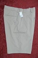 NEW WITH TAGS GRAND SLAM GOLF KHAKI TAN  SHORTS 32X10 ACTUAL 34X10 FLAT FRONT
