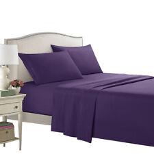 4 Piece Bedroom Bed Sheet Set 1800 Count Luxury Comfort Deep Pocket Pillow Case