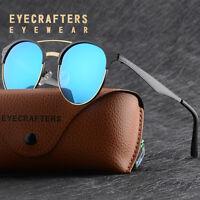Retro Polarized Fashion Sunglasses Mens Womens Round Mirrored Eyewear Glasses