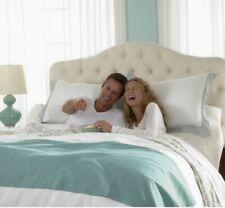 Twin Xl Gotcha Covered fitted bottom sheet. Shore Collection, color sea salt.