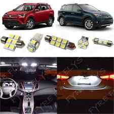 8x White LED lights interior package kit for 2016-2017 Toyota RAV4 TR4W