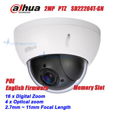 Dahua SD22204T-GN 2MP Full HD 4x Optical Zoom POE Network Mini PTZ Dome Camera