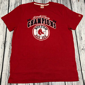 Boston Red Sox Champions WS Homage MLB Mens Red T-Shirt Size XL Short Sleeve