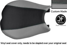GREY AND BLACK VINYL CUSTOM FITS DUCATI 848 1098 1198 FRONT SEAT COVER ONLY